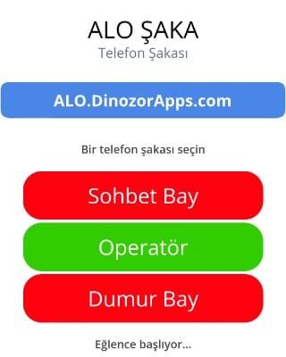 alo.dinozorapps.com site üzerinden telefon şakası yapın